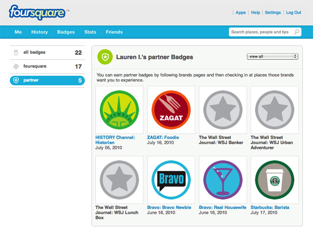 Foursquare Debuts Trophy Case, Partner Badge Program