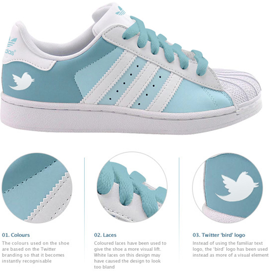 Facebook And Twitter Get Their Own Running Shoes [Adidas Concept]