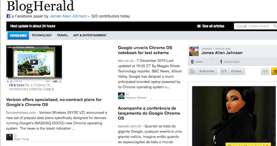 Paper.li Adds Facebook News To Daily Aggregation Service