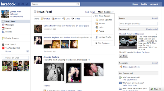 Facebook Redesigns News Filter, Adds More Options