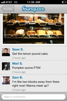 Foursquare Photo and Comments - iPhone