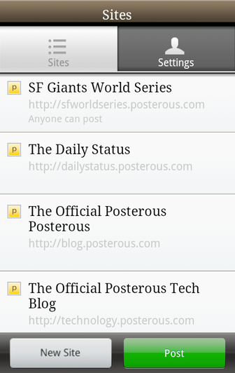 Posterous Embraces Android (But Only Upon Select Phones?)