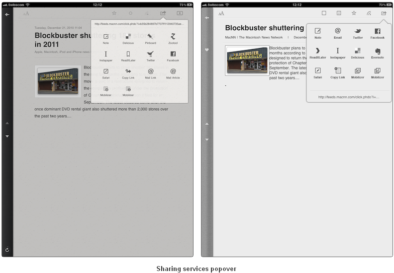 Reeder's iPad App Copied By Google Reader Rival? UPDATE: MobileRSS Responds
