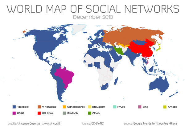 Social World Map 2010