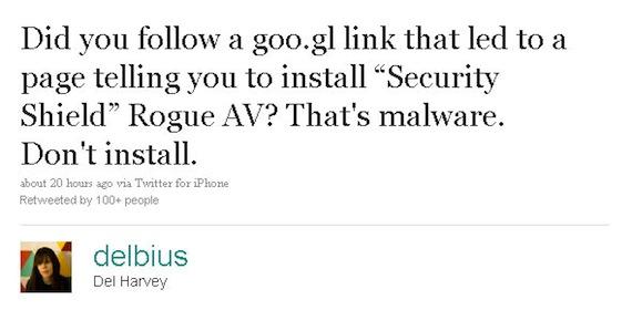 New Twitter Exploit Takes Advantage Of Google URL Shortener Service