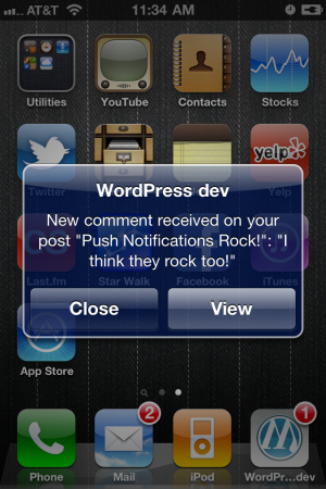 WordPress For iPhone, Meet Push Notifications