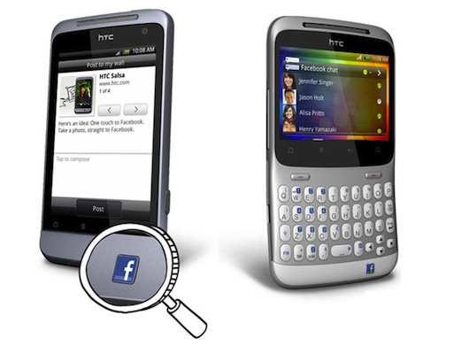 HTC Salsa and ChaCha with Dedicated Facebook Buttons