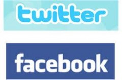 Twitter Logo and Facebook Logo