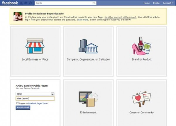 Facebook: Convert Your Profile Into A Page