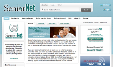 SeniorNet launches virtual campus on tech for seniors