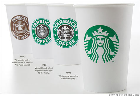 New Starbucks Logo on Coffee Cups