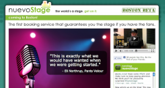 NuevoStage Band Social Booking Website