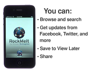 RockMelt Browser Launches iPhone App With Facebook At Center Stage