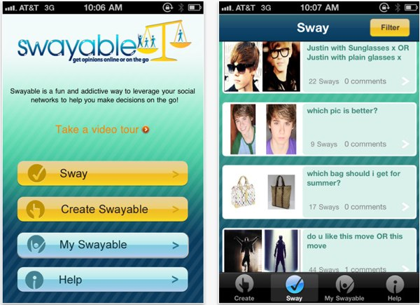 Swayable: Social Decision Making With Your Friends Help