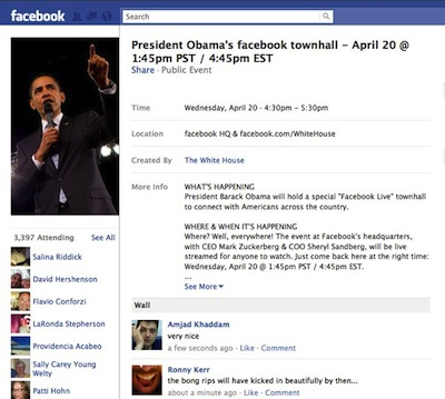 President Obama Heading To Facebook Town Hall Meeting