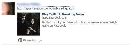 Twilight Facebook Scam