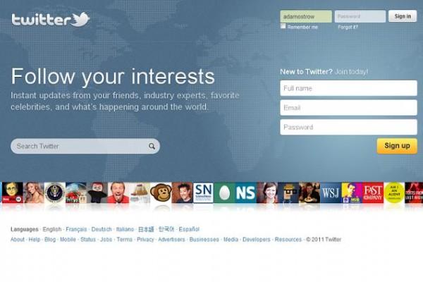 New Twitter homepage