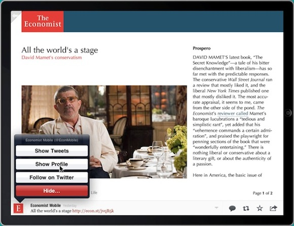 Flipboard Economist Integration