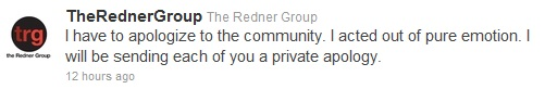 Redner Group Tweet