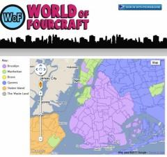 World Of Fourcraft Map