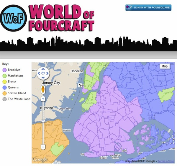 World Of Fourcraft: Foursquare Hack Turns NYC Into Giant Game Of Risk
