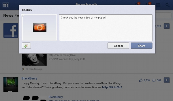 Blackberry: Facebook For Playbook Is Now Relevant Again