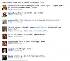 google+ invites on twitter