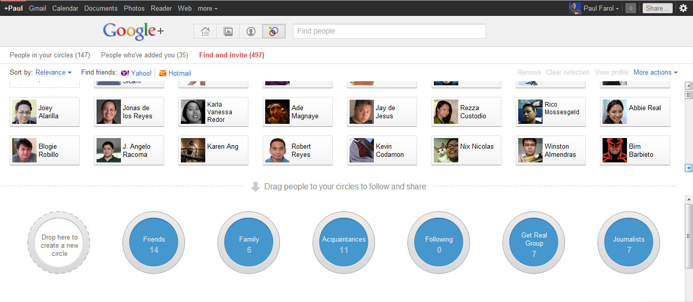 Life after Google+: Going around in Circles