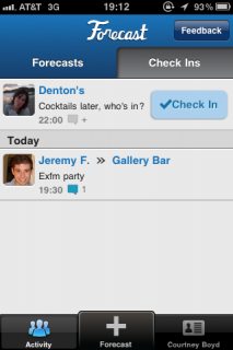 Forecast App for Foursquare Users