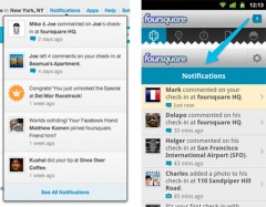 Foursquare Notifications for Google Android