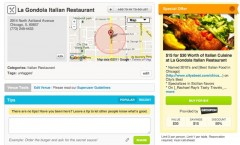 Groupon and Foursquare Deals Screen