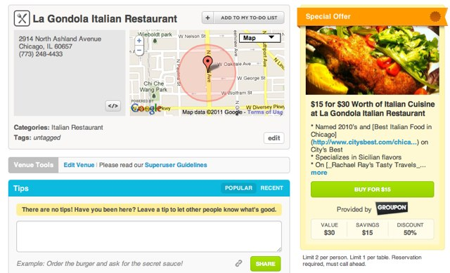 Groupon & Foursquare Create Partnership To Provide Location Based Deals