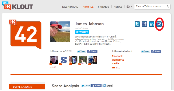 Foursquare Check-Ins Now Part Of Klout Algorithm