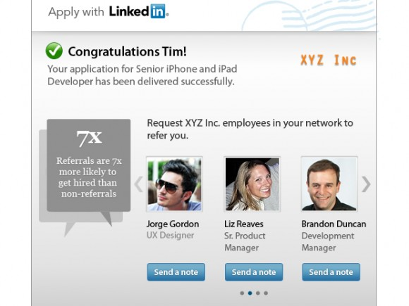 LinkedIn Apply Within Referral System