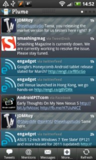 Plume Android App for Twitter