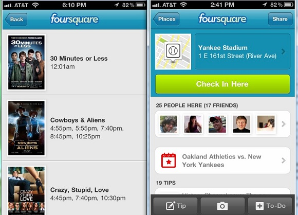Foursquare Now Allows Users To Check Into Events