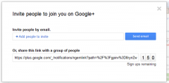 Googe Plus Invites