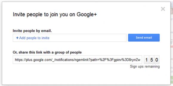 Googe Plus Invites