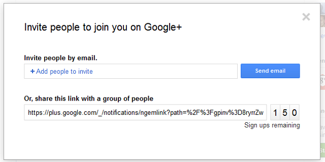 Google+ Link Sharing Makes Inviting Your Friends Easier [Free Invites Here]