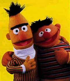 Ernie and Bert getting married.