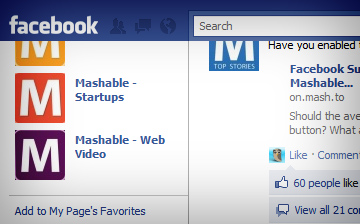 Facebook Navigation Bar Now Grabs Onto Top Of Page, Won't Let Go