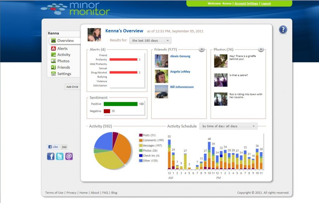 Minor Monitor Provides Parent's With Robust Facebook Monitoring For Child Acccounts