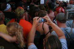 Cell Phone in Crowd