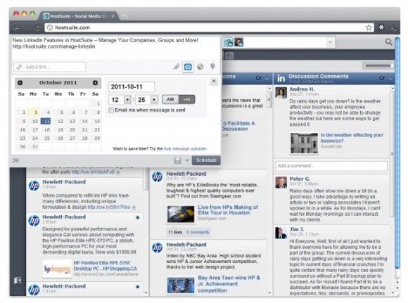 Hootsuite with LinkedIn Integration