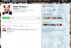 Sean Parker Joins Twitter