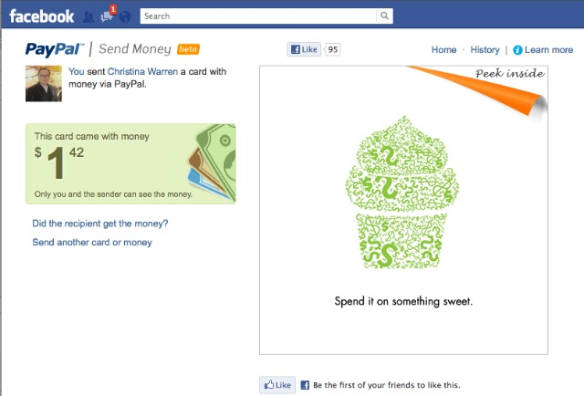 Paypal Facebook App Gives You Ability To Send Friends Money