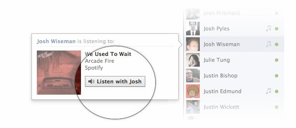Facebook Listen With Feature