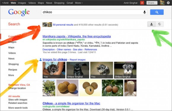 Google Plus Search Integration