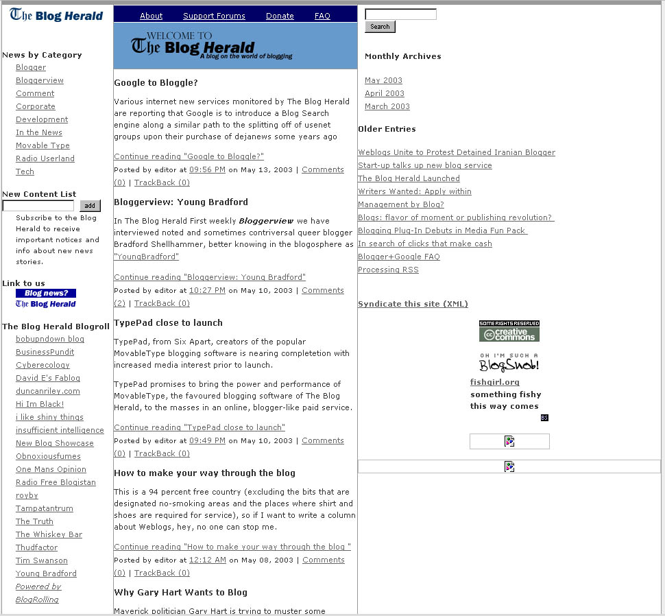Then and Now: What Your Favorite Blogs Looked Like in Their Infancy