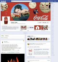 Coca Cola Brand Page for Premium Ad
